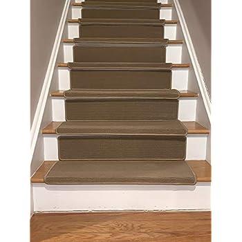 Bullnose Indoor Skid Slip Resistant Carpet Stair Treads