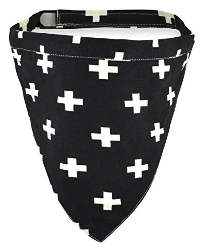 Territory Modern Collection Reversible Bandana, Large, Black/Green Print by Territory