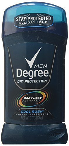 Degree M-BB-1266 Cool Rush Invisible Antiperspirant & Deodorant Stick by Degree for Men - 2.7 oz Deodorant Stick (6-Pack)