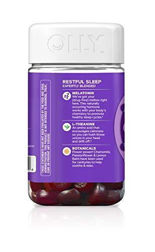 OLLY Restful Sleep Melatonin Gummy, 35 Day Supply (70 Gummies), BlackBerry Zen, L Theanine, Chamomile, Lemon Balm, Chewable Supplement by Olly (Image #2)