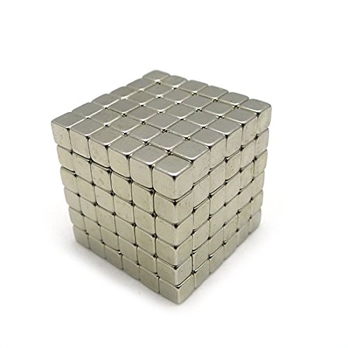 Magnetic cube,216PCS Magic Cubes Building Blocks Educational Toys Stress Relief Toy Games Square Cube Magnets develops intelligence (5MM) by MilkyWay