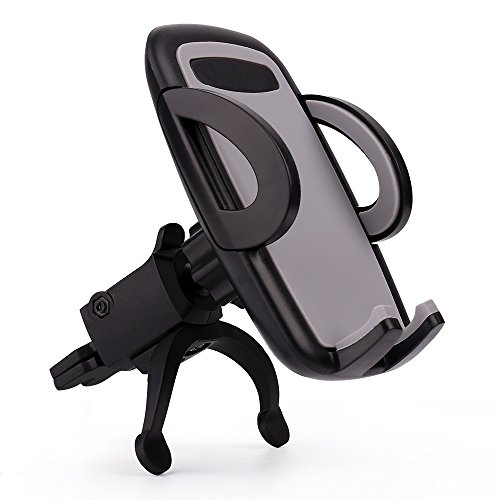 Car Phone Mount,Sgrice Universal Air Vent Car Phone Mount Holder Cradle with Kickstand/Quick Release Button/One Touch Grip Vent Tech, for iPhone X/8/ 8 Plus/7/7 Plus/6S,Samsung GalaxyS8/S7/S6 and More - Kickstand Mount