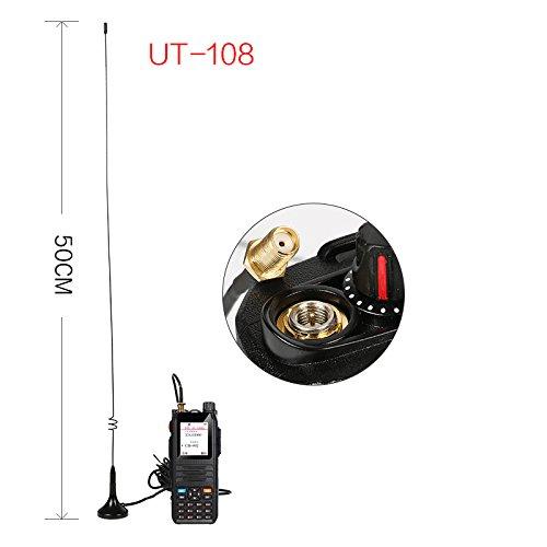 Mobilantenne 2m 70cm EasyTalk UT-108UV Duoband VHF UHF Mini Funkantenne Lang f/ür Walkie Talkie Funkger/ät Radio BaoFeng PUXING Wouxun Kenwood TYT