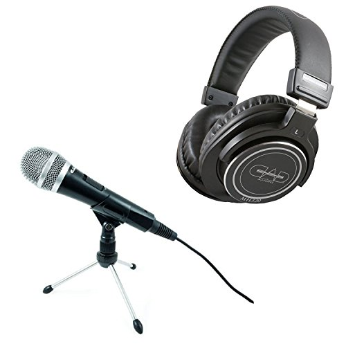 CAD U1 USB Dynamic Professional Podcast Studio Recording Microphone + CAD Audio MH320 Closed Back Studio Headphones Top Value Bundle!