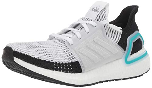 adidas Men's Ultraboost 19 Running Shoe, White/Collegiate Royal, 10.5 M US
