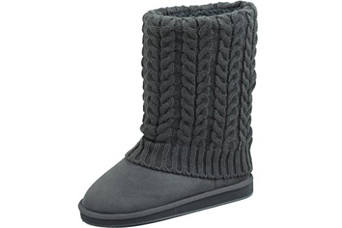 Available Grey Calf Sweater Mid Boots New Women's 4 Colors In Knit YvUTRvW4