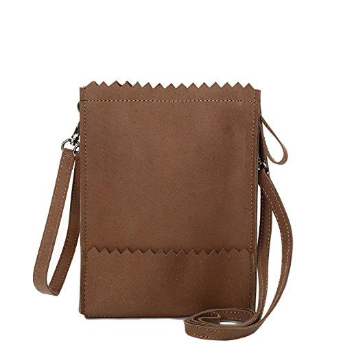 MYOMY My Paper Bag Baggy Cognac Clutch MOM10410452