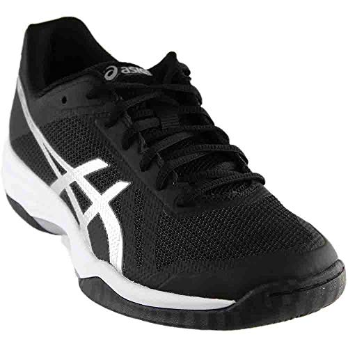 ASICS Womens Gel-Tactic 2 Volleyball Shoe, Black/Silver/White, 9.5 Medium US ()