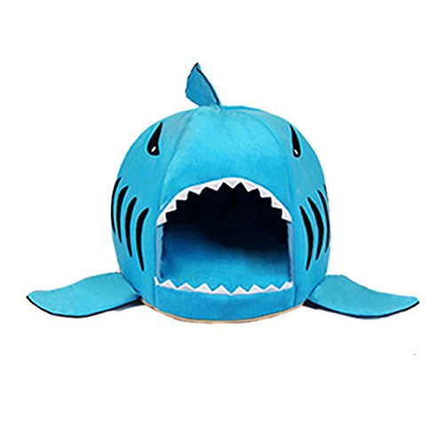 Amazon.com : ArMordy(TM) 3 Colors Cartoon Shark Dog Bed House Winter Warm Cat Bed Detachable Wash Chihuahua Small Dog House Cama Perro[ Blue M ] : Pet ...