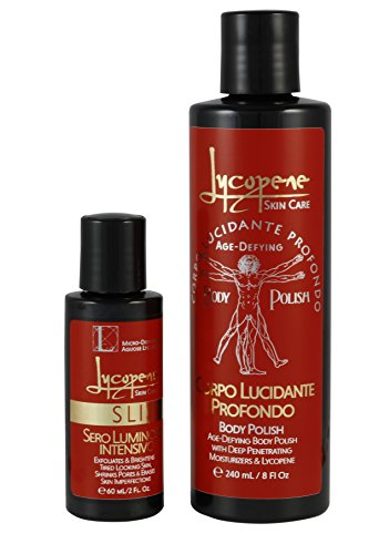 Lycopene Skin Care - Exfoliating Facial Scrub Set - Includes
