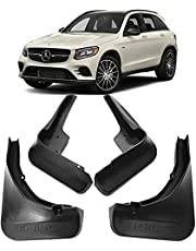 4 Pcs Car Mud Flaps For Mercedes Benz GLC 43 63 AMG 2015-2019 2016 2017 2018, Splash Guards Front Rear Mudguards Waterproof Scratch Resistant Styling Accessory