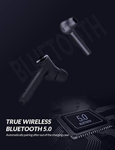 Bluedio Auricolari Bluetooth, Hi (Hurricane) Cuffie Bluetooth 5.0 Auricolari Wireless Stereo Senza Fili Sportivi in Ear con Custodia da Ricarica,TWS Mini Cuffie per Samsung iPhone Huawei Sony Xiaomi