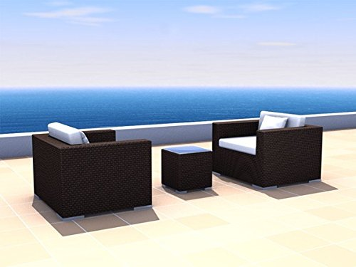 Gartenmöbel Rattan Lounge Espace Angebots-Set 2 - (2 Sitze) Polyrattan, dunkelbraun