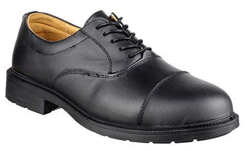 Amblers Steel - Black - Leather Lace Up Safety Footwear - Size 14