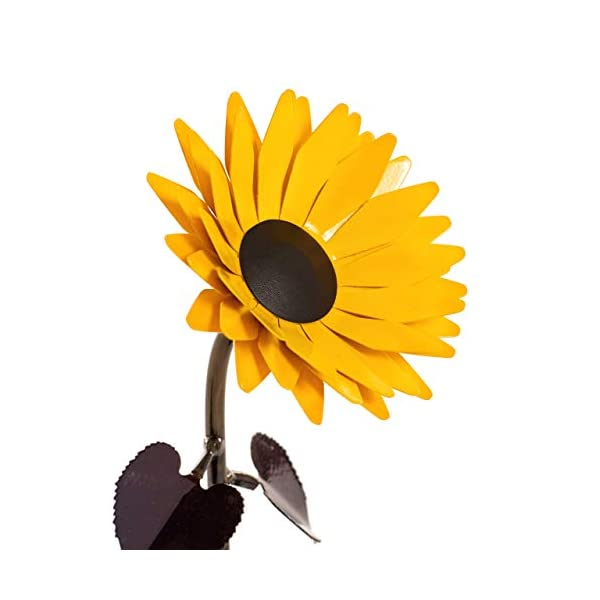 Personalized Hand-Forged Wrought Iron Sunflower - Valentine's Day Gift