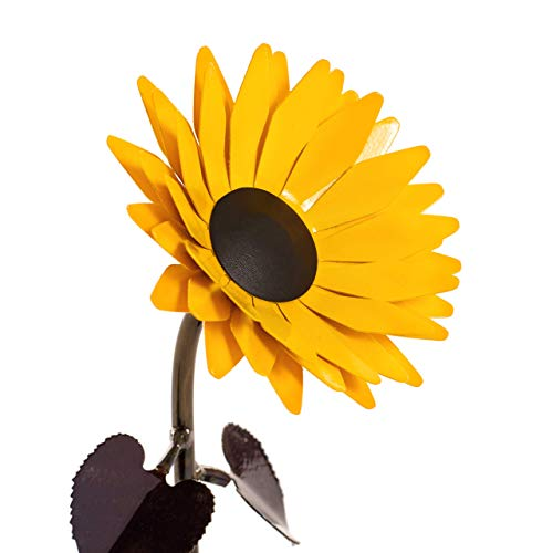 Personalized Hand-Forged Wrought Iron Sunflower - Valentine's Day Gift (Sculpture Iron Forged)