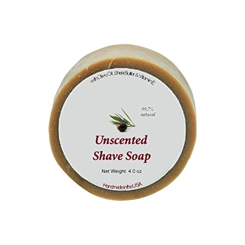 Shaving Soap - Unscented Shave Bar Soap - 4 oz bar by MoonDance Soaps & More