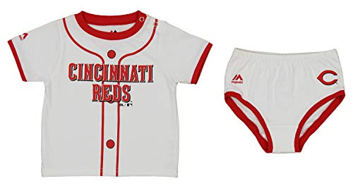 MLB Infants Cincinnati Reds Little Player Tee & Diaper Set, 18 Months