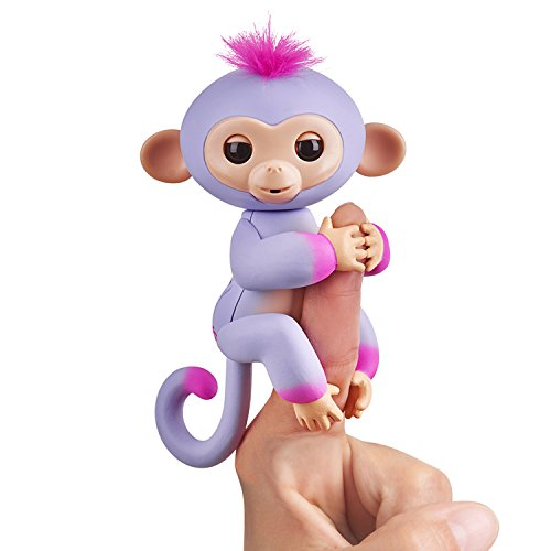 (Fingerlings 2Tone Monkey - Sydney (Purple with Pink Accents) - Interactive Baby Pet)