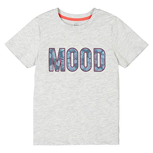 La Redoute Collections Mood Print Crew Neck T-Shirt, 3-12 Years Grey Size 3 Years (94 cm) from La Redoute