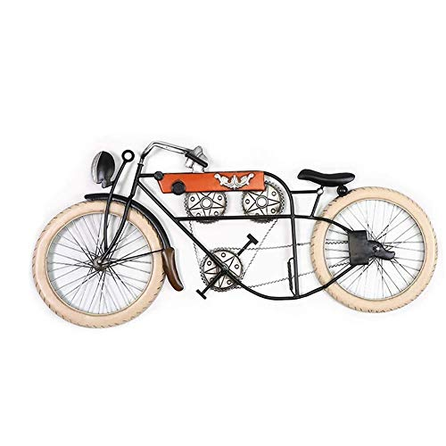 YYHSND Wall Hangings, Retro Three-Dimensional Wrought Iron Bicycle, Living Room Shop Wall Decoration Pendant (Wall Art Iron Bicycle Wrought)