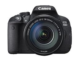 Canon EOS 700D Digital SLR Camera and 18-135mm EF-S IS STM Lens (Black) - International Version (No Warranty)