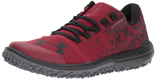 Under Armour Men's Speed Tire Ascent Low, Cardinal/Rhino Gray/Black, 10.5 D(M) US