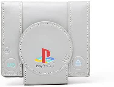 Playstation Shaped vintage retro new Official grey Bifold Wallet