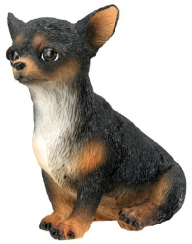 Dog Collectible Figurine (Chihuahua Puppy / Dog (Black) - Collectible Figurine Statue Sculpture)