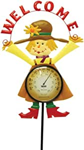 Toland Home Garden 221321 Miss Scarecrow Thermometer