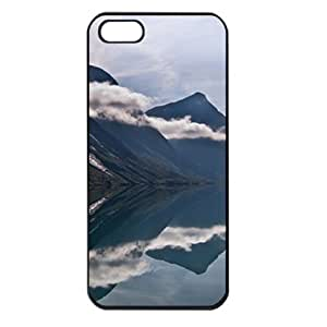 CaseSuper Mount Cook New Zealand T1 Natures Designs Apple iPhone 5S Seamless Case (Black)