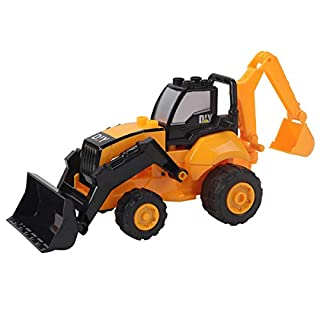 Coco Tree Construction Toys, Tough ABS Plastic Sandbox Trucks Vehicles,Big Excavator & Bulldozer Toy Gifts for Kids,Boys and Girls.