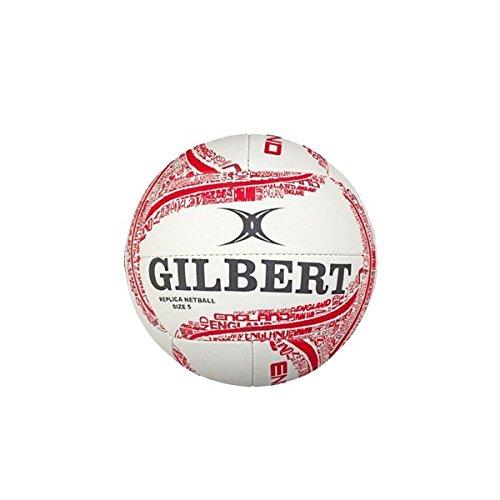 Gilbert Ballon de Netball Réplique Angleterre - Rouge/Blanc