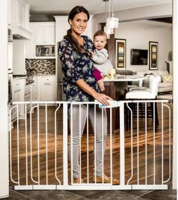 Regalo Extra Wide Steel Frame Baby Gate, 29.5''-58''