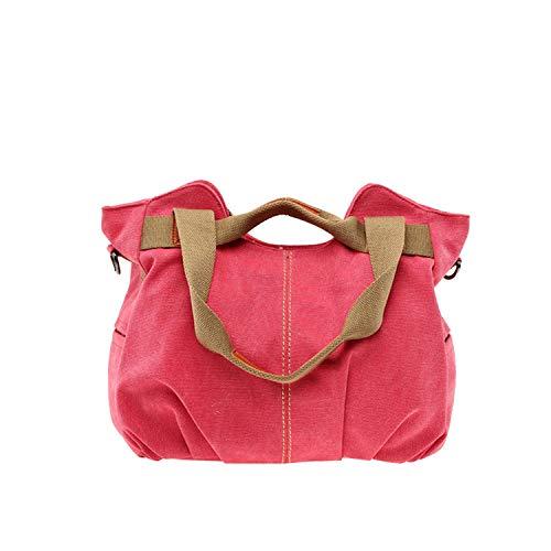 (Large Capacity Casual Vintage Hobo Canvas Handbags Handbags Women Bags,Red)
