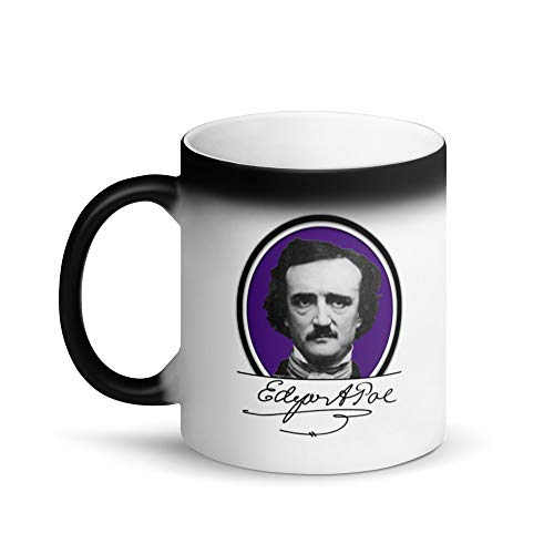 Molti Cose Edgar Allan Poe Portrait Matte Black Magic Mug