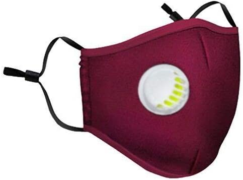 Cotton Face Bandanas with Breathing Valve Activated Carbon Filter Replaceable Haze Face Mouth Nose Health Washable Reusable Cotton Bandana for Women Men