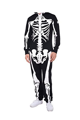 Wecloth Skeleton Jumpsuit - Skeleton Halloween (Costumes On Sims 3 Seasons)
