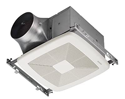 Broan ZB110 Exhaust Fan Bathroom fan with 110 CFM Maximum and 0.3 Sones from the Ultra Collection