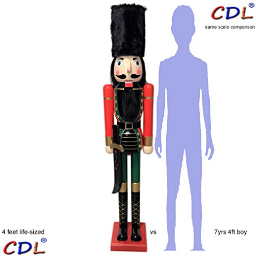 """CDL 48"""" 4ft tall life-size large/giant Christmas wooden n..."""