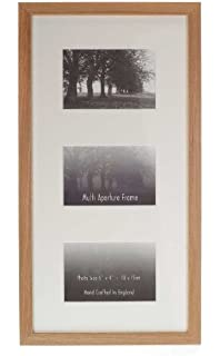 4x6 Triple White Wood Hinged Triple Frame Trifold Picture Frame
