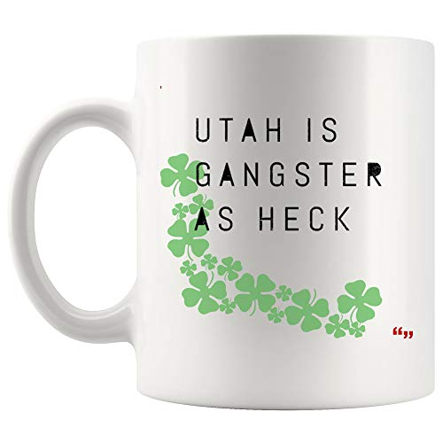 Humorous Joke Mug Coffee Cup | Office Party Gifts Utah Gangster Heck Utah Hilarious Joke Salt Lake City Typography Humorous Party Gifts -