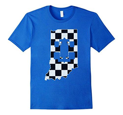 Mens Indianapolis Indiana Racing T Shirt Distressed Look 2Xl Royal Blue