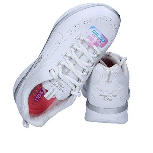 Deporte Mujer De Zapatillas Blanco Cuero Skechers E1fYSqxwf