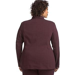 Just My Size Womens Super Stretch Blazer, 5X, Black