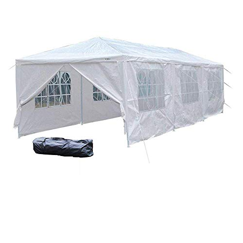 VINGLI 10' x 30' Canopy Wedding Party Tent with 8 Removable