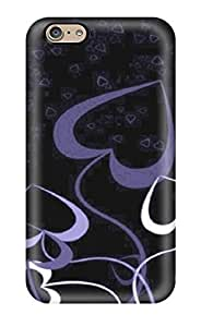 Ryan Knowlton Johnson's Shop 4479180K11618984 Fashion Protective Artistic Purple Hearts Love Beautiful Case Cover For Iphone 6