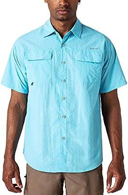 NAVISKIN Camisa Casual de Manga Corta Protección UV UPF 50 para Hombre Camiseta Deporte Térmica Pesca Acampada Campismo Senderismo Marcha Ligero Secado Rápido, Azul S: Amazon.es: Deportes y aire libre