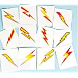 Lightning Bolts Tattoos of 12 - Great Girls and Boys Superhero or Harry Potter Party Loot Bag Fillers