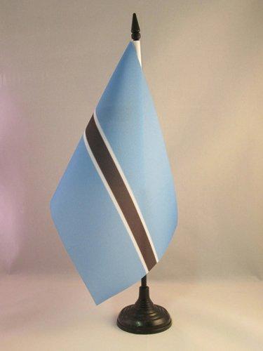 - AZ FLAG Botswana Table Flag 5'' x 8'' - Botswanan Desk Flag 21 x 14 cm - Black Plastic Stick and Base